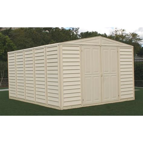 vinyl shed reviews duramax 174 10x13 woodbridge vinyl shed with foundation