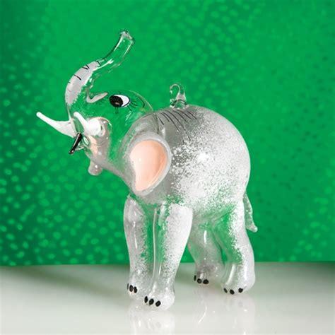 elephant glass italian christmas ornament the cottage shop