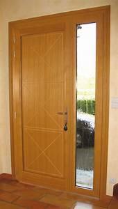 pose porte dentree bois alu devis pour linstallation With porte de garage et porte simple en bois