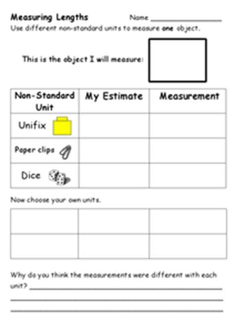 standard units  measure worksheet