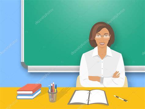 bureau enseignant femme professeur école à l 39 illustration de l 39 éducation