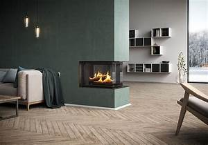 3 Sided Wood Burning Fireplace For The Modern Home