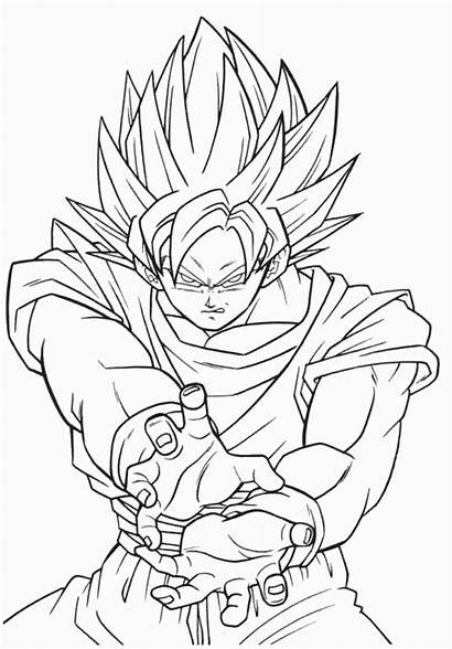 Dragon Ball Dibujos Colorear Goku Imprimir