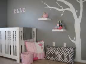 Stickers Chambre Fille Bebe by Mod Gray And Pink Nursery Design Dazzle