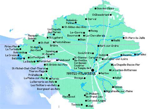 Carte De Plage Atlantique by Loire Atlantique Plage Et Vacances Pornic Pornichet La Baule
