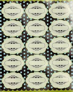 Decorative labels for jars bottles easy to stick for Decorative labels for jars