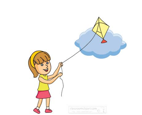 child clipart flying kite png  cliparts