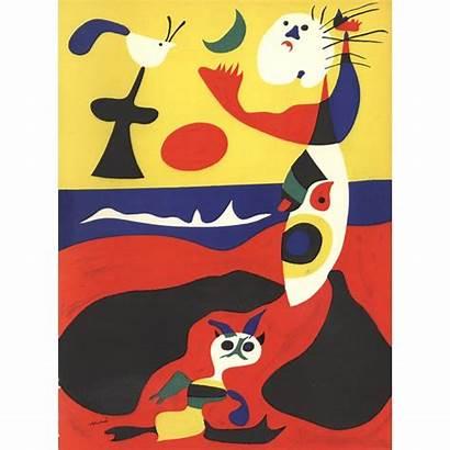 Miro Surrealism Joan Lithograph 1938 Multicolor Ete