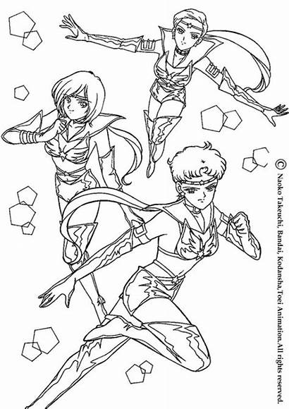 Sailor Moon Coloring Pages Action Warrior Manga