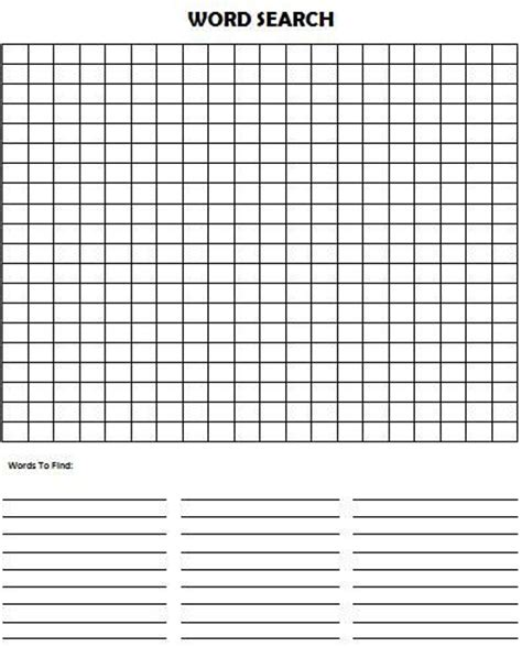word search template make your own word search puzzle for and search