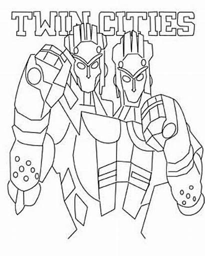 Coloring Steel Pages Twin Robot Cities Atom
