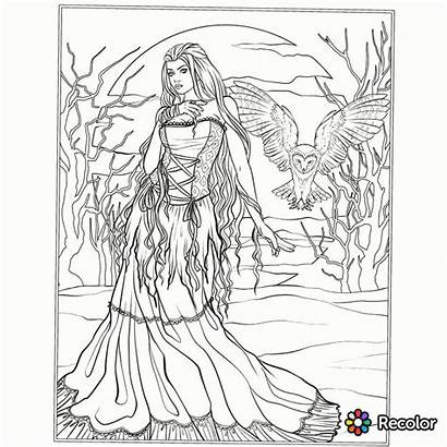 Coloring Gothic Pages Adults Adult Printable Fairy