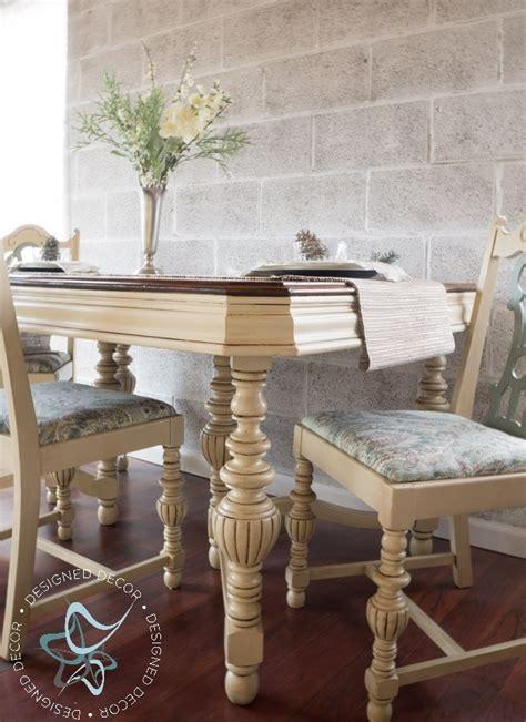 dining table set  milk paint gel stain general