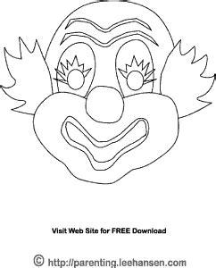 clown mask template clown mask coloring activity sheet