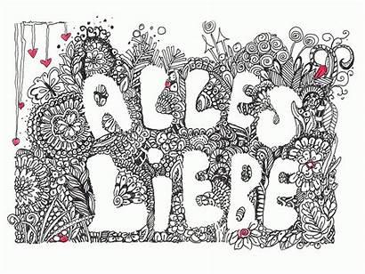 Doodle Ausdrucken Zum Karte Karten Liebe Alles
