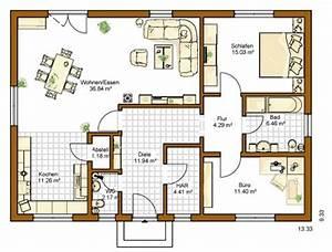 Fertighaus 100 Qm : grundriss bungalow 100 qm ~ Lizthompson.info Haus und Dekorationen