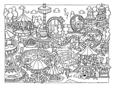 Fun At The Fair Colouring Page Download By Eppy On Etsy