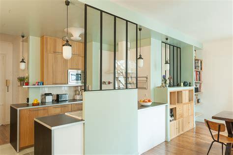 verriere interieure cuisine appartement farjo coeur de cuisine maéma architectes