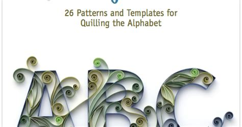 quilling letters  book  patterns  templates