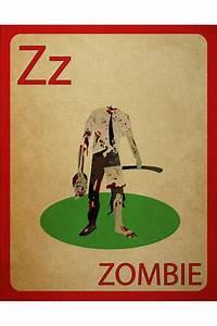 Zombie Flashcard Poster OCD: Zombie Apocalypse