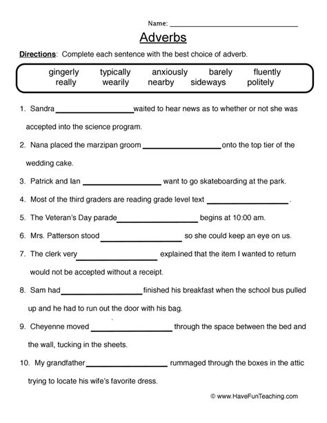 Comparative And Superlative Adverbs 4th Grade  Adjectives Worksheets Comparative And