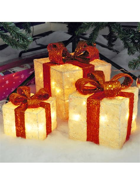 light  gift boxes presents set   christmas glitter