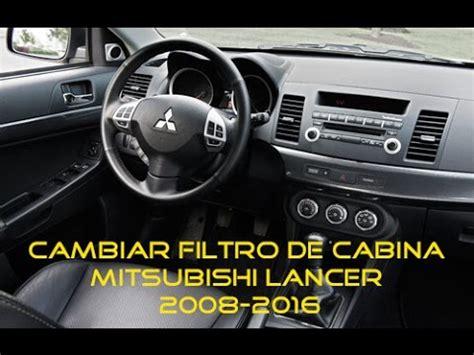 Cambiar filtro de cabina de mitsubishi lancer - YouTube