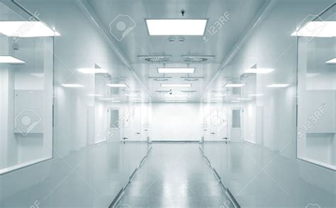 silver ceiling laboratory background