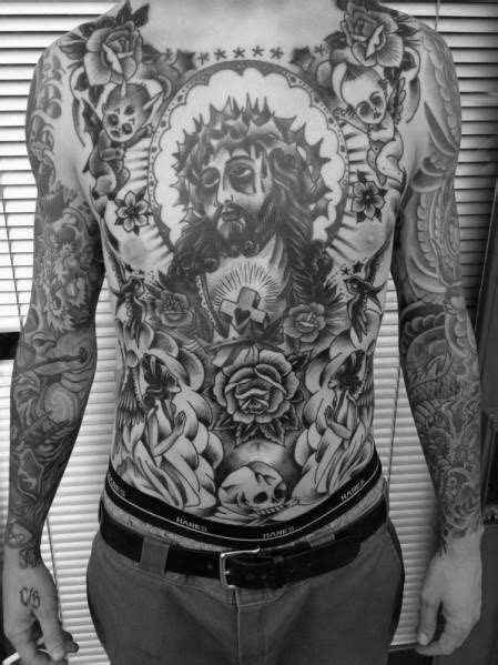 60 Traditional Chest Tattoo Designs For Men - Old School Ideas