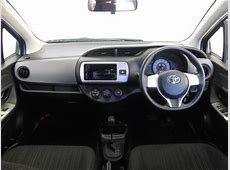 Used Toyota Vitz 2014 Model Blue color photo, image, pictures