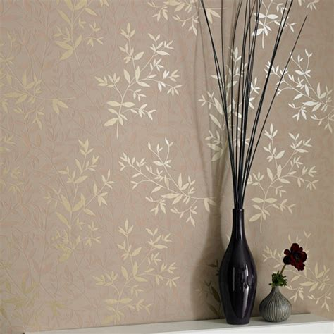 Allen Roth Wallpaper by Allen Roth Beige Strippable Non Woven Prepasted Textured
