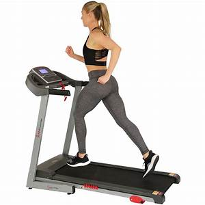 Sunny Health And Fitness Electric Treadmill With Manual