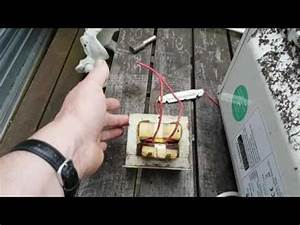 Wire Microwave Transformer For Woodburning Schematic