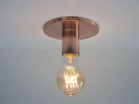 single bulb flush mount light flush mount ceiling light or wall sconce industrial