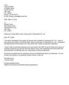 cover letter sle for resume records clerk resume sales clerk lewesmr