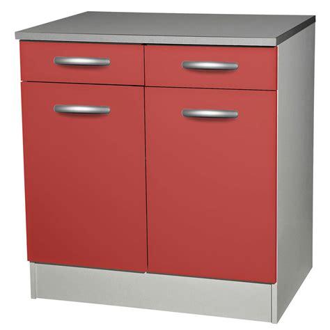 meuble cuisine a tiroir meuble bas de cuisine avec porte et tiroir 80cm