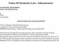 notice to owner do it yourself lien release With mechanics lien letter of intent