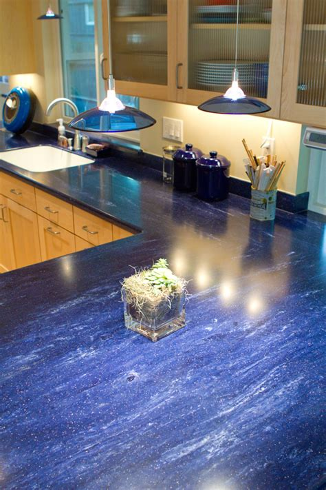 Blue Countertop by Corian Countertop H2d Architecture Design