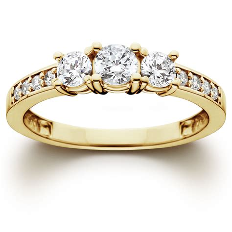 solitaire engagement ring 1 ct 3 engagement ring 10k yellow gold ebay