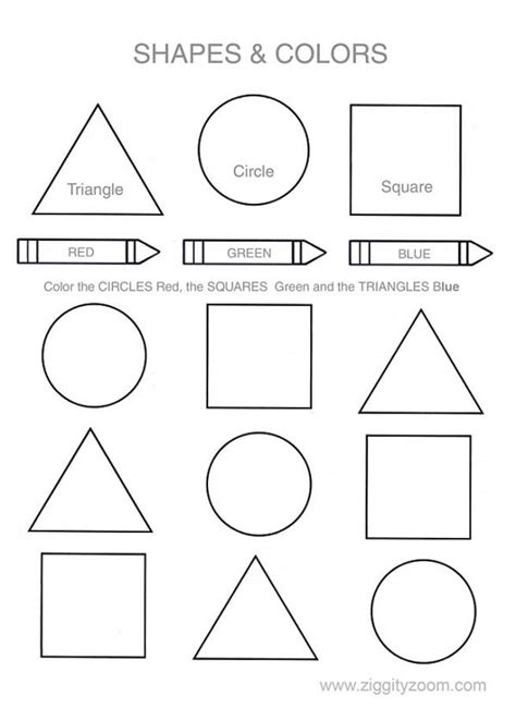 colors and shapes worksheets for preschoolers shapes colors printable worksheet ziggity zoom