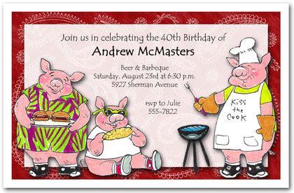 porkys barbecue invitations bbq invitations