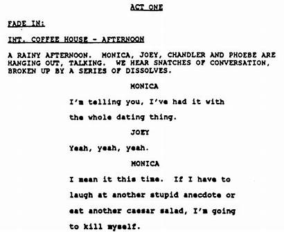 Scripts Friends Screenplay Acting Writing Sitcom Comedy
