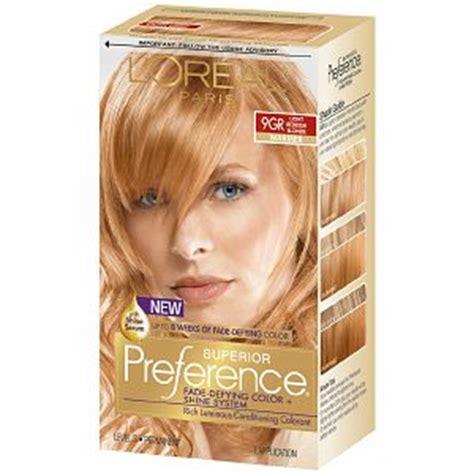 l oreal excellence 9rb light reddish blonde l 39 oreal preference 9gr light golden reddish blonde