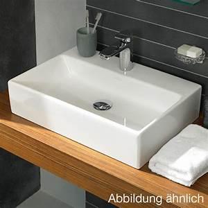 Waschbecken 60 X 60 : villeroy boch memento aufsatzwaschtisch wei mit ceramicplus 1 hahnloch mit berlauf ~ Indierocktalk.com Haus und Dekorationen