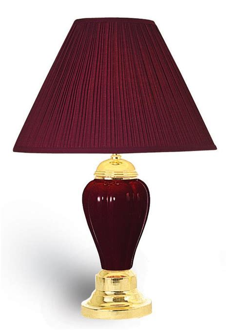 "OK 4101BDA   24""H Ceramic Table Lamp in Burgundy"