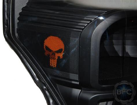 ford  superduty  black punisher skull hid