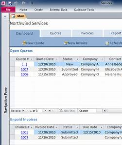 create maintain comprehensive business services database With access 2013 templates download