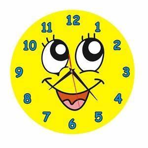 Cute Smiley Face Wall Clock Silent Quartz Home Time Fun