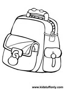 School Bag Coloring Page