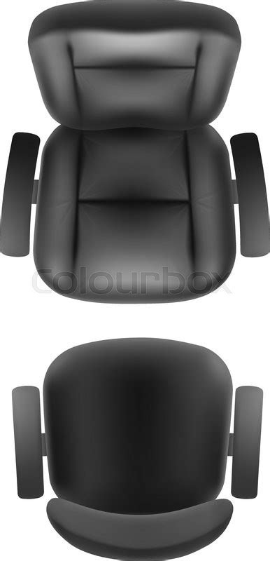 top office bureau office chair and armchair top view vector